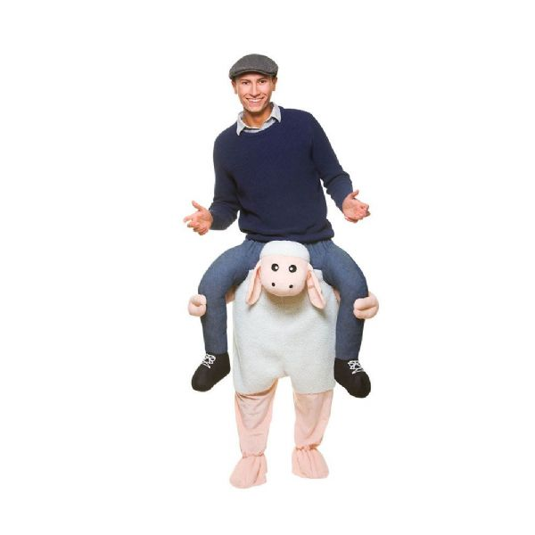 Adults Carry Me Sheep Costume Lamb Farm Animal Shepherd Nativity Fancy Dress Cosplay